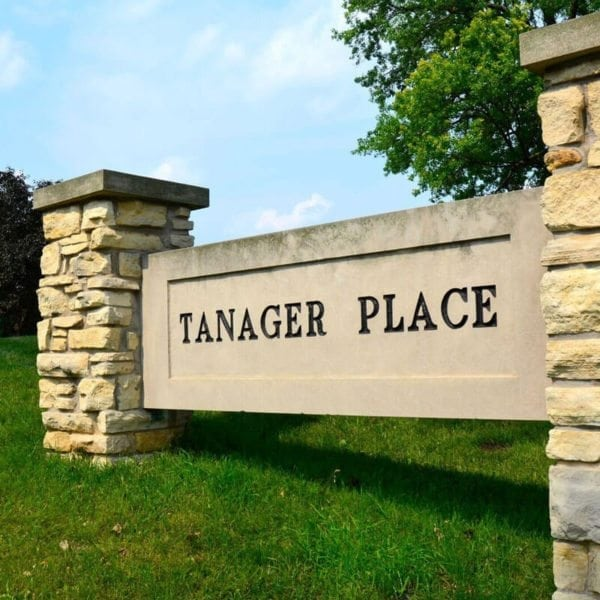 Tanager Place Sign Outside