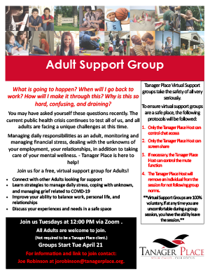 Adult Virtual Support Group
